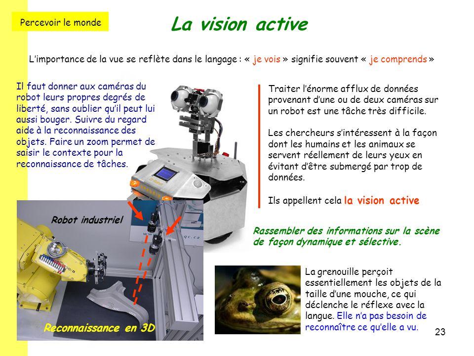 La vision active Percevoir le monde Reconnaissance en 3D