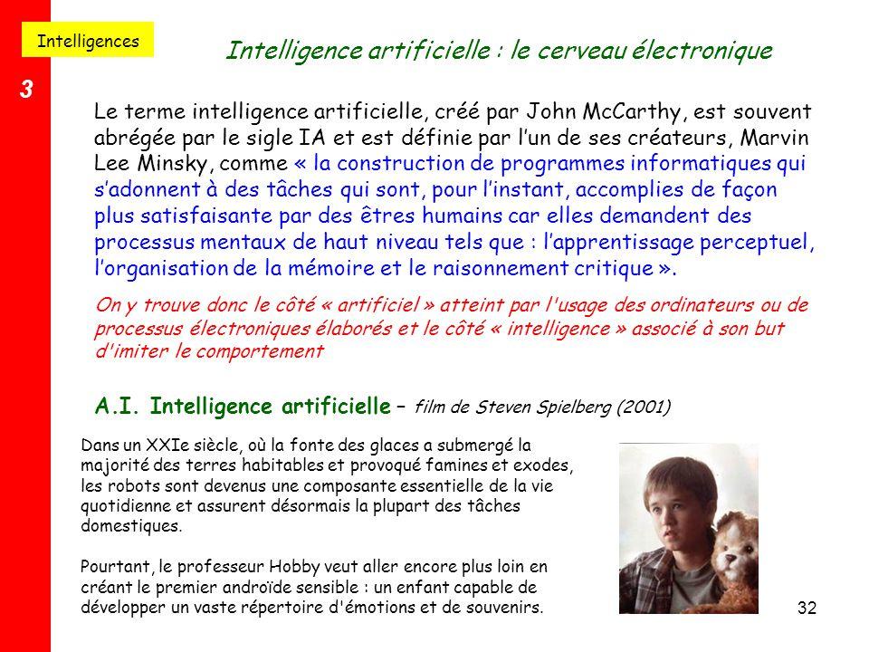 Intelligence artificielle : le cerveau électronique