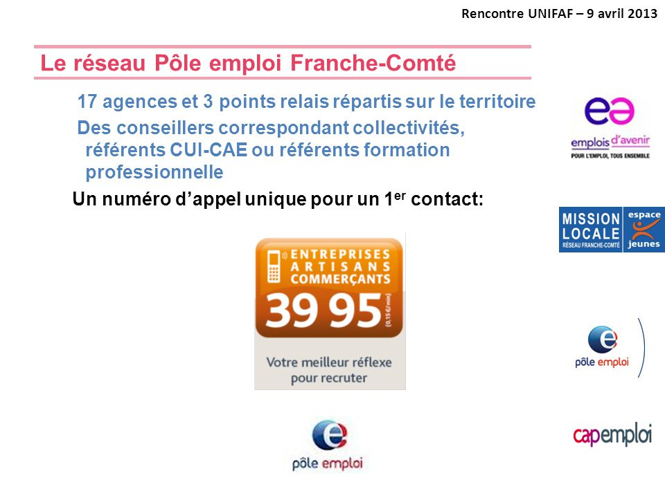 Le réseau Pôle emploi Franche-Comté