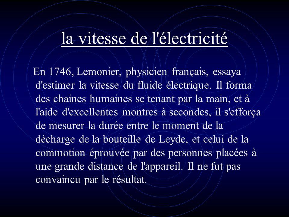 la vitesse de l électricité