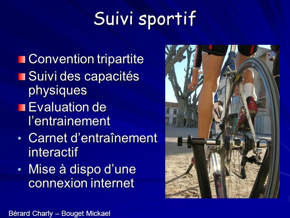 Suivi sportif Convention tripartite Suivi des capacités physiques