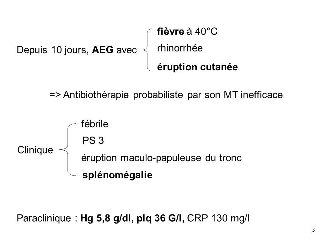 => Antibiothérapie probabiliste par son MT inefficace