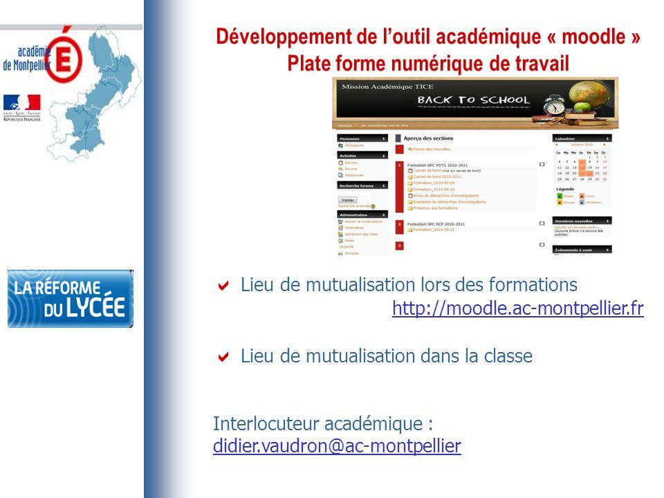 Développement de l'outil académique « moodle »