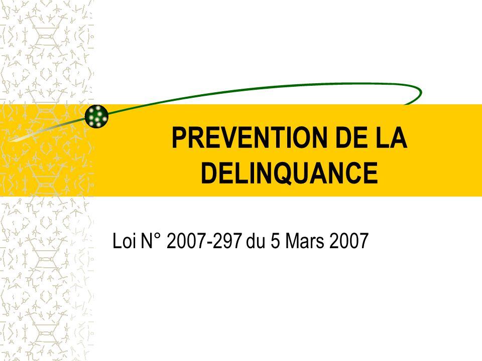PREVENTION DE LA DELINQUANCE