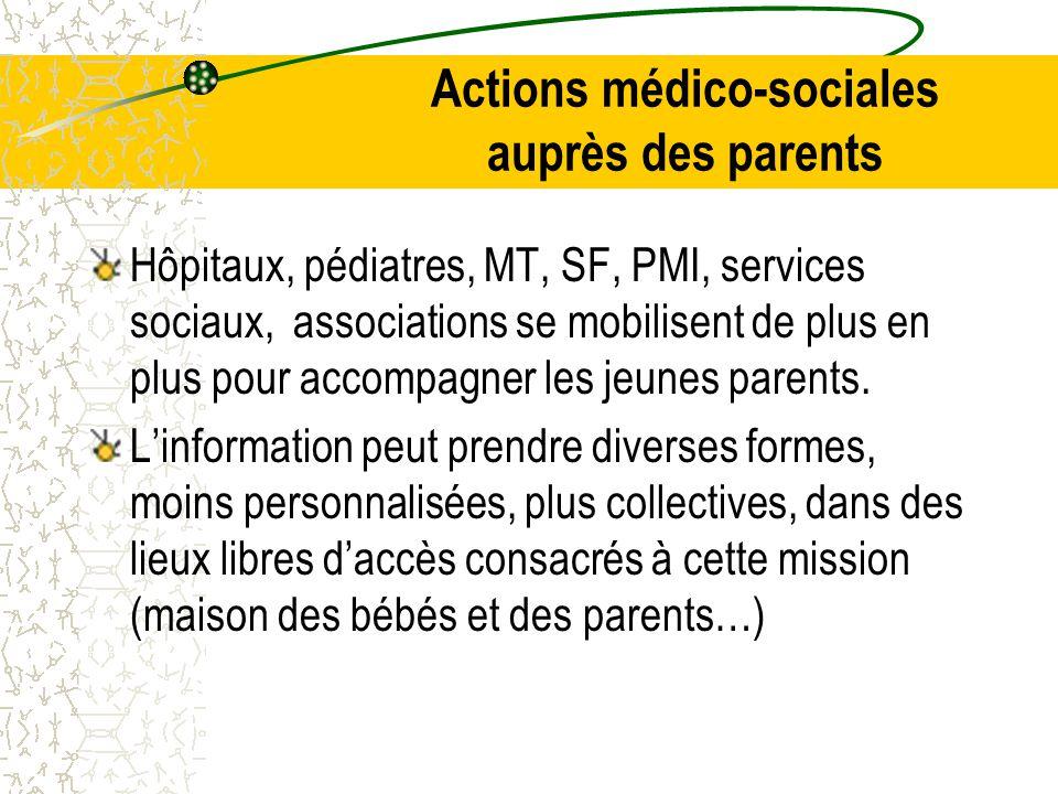 Actions médico-sociales auprès des parents