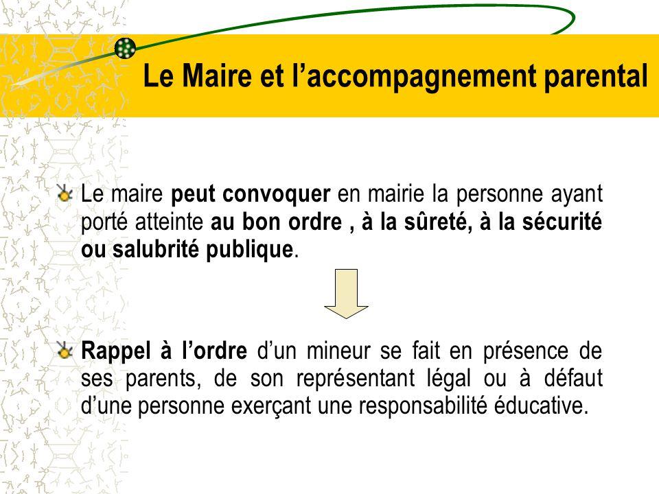 Le Maire et l'accompagnement parental