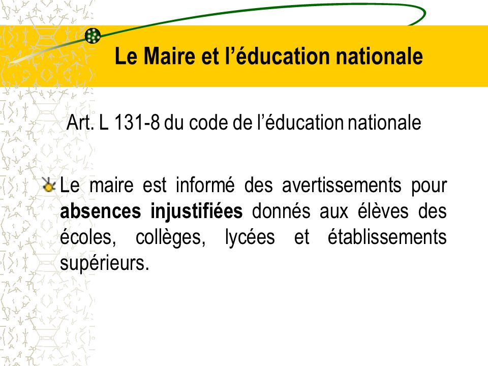 Le Maire et l'éducation nationale