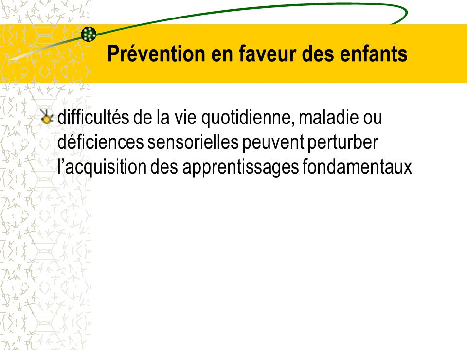 Prévention en faveur des enfants
