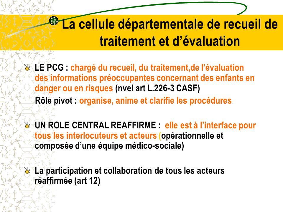 La cellule départementale de recueil de traitement et d'évaluation