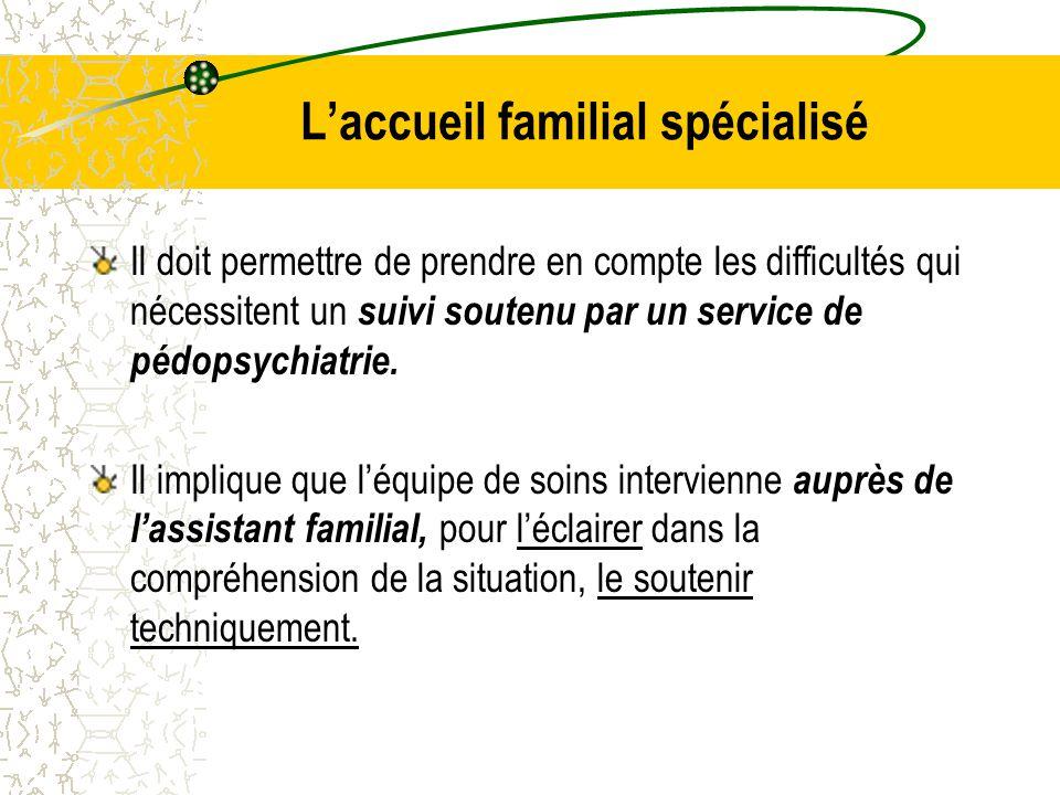 L'accueil familial spécialisé