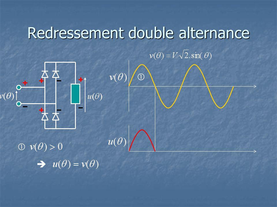 Redressement double alternance