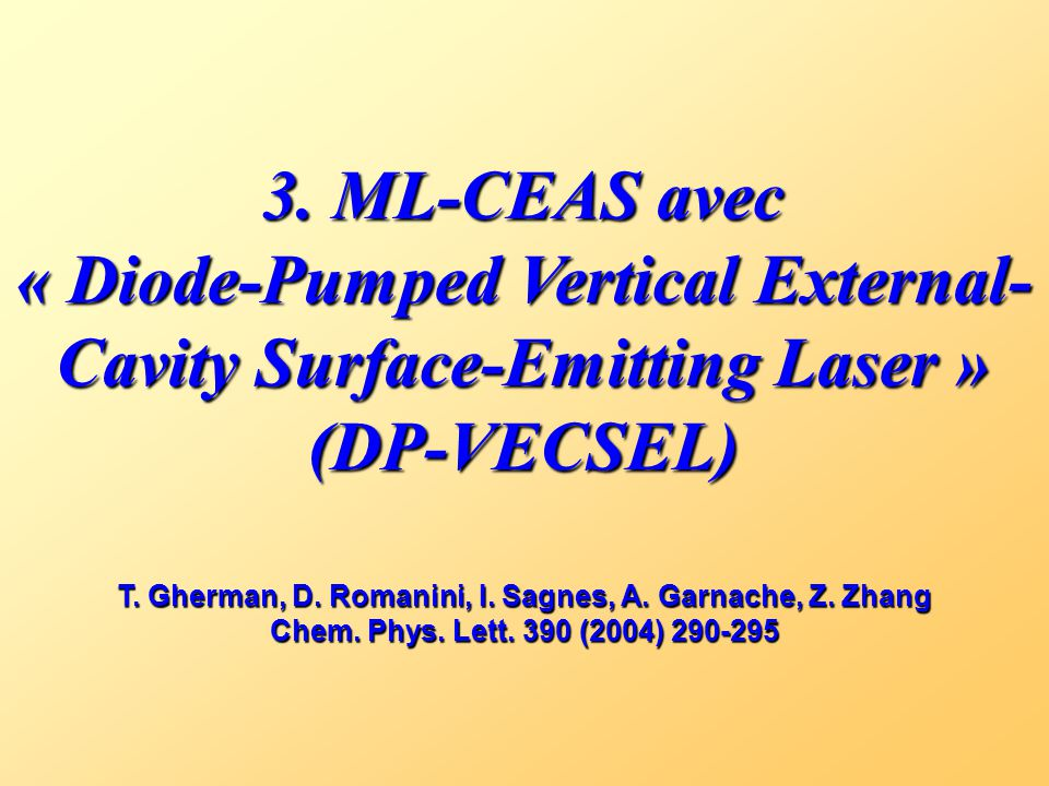 « Diode-Pumped Vertical External-Cavity Surface-Emitting Laser »