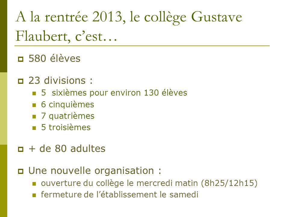 A la rentrée 2013, le collège Gustave Flaubert, c'est…