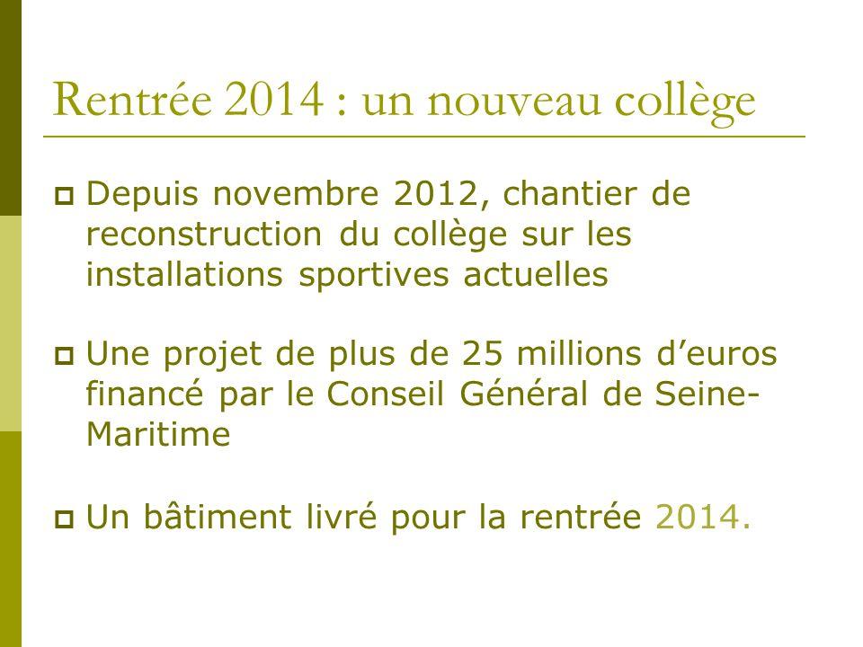 Rentrée 2014 : un nouveau collège