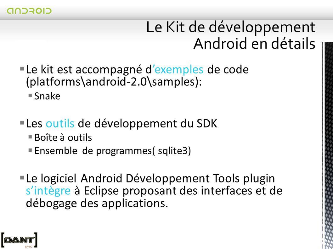 Le Kit de développement Android en détails
