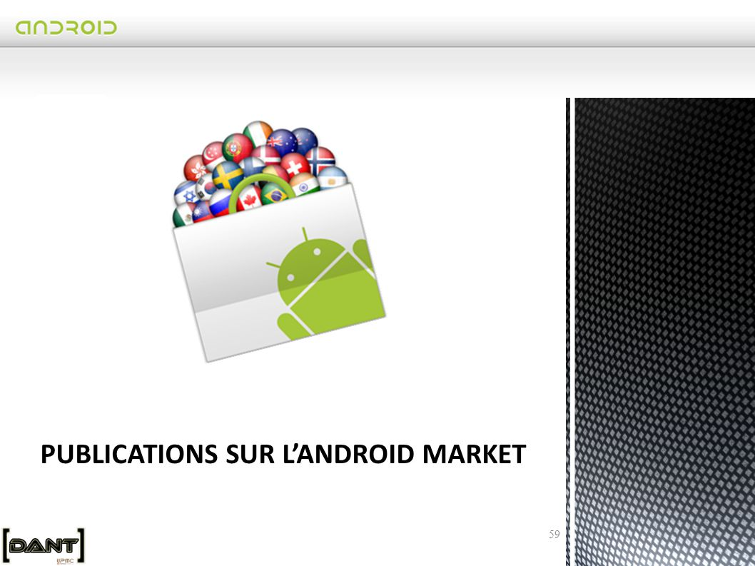 PUBLICATIONS SUR L'ANDROID MARKET