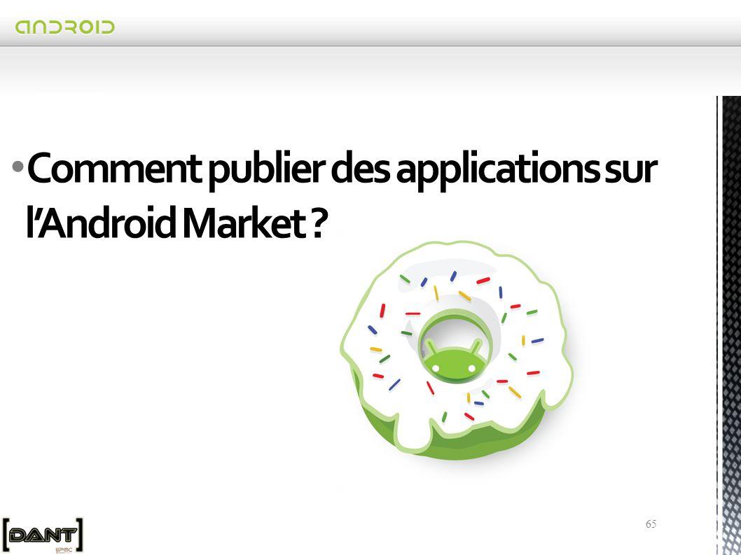 Comment publier des applications sur l'Android Market
