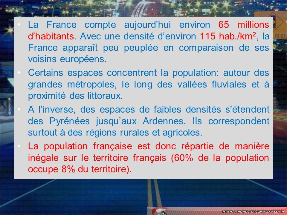 La France compte aujourd'hui environ 65 millions d'habitants
