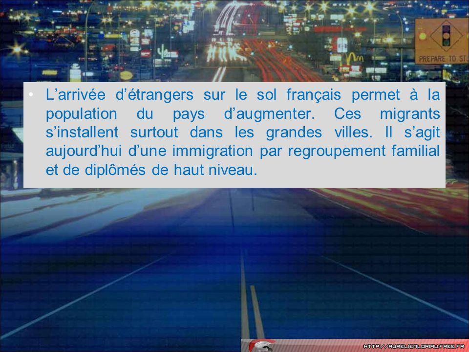 L'arrivée d'étrangers sur le sol français permet à la population du pays d'augmenter.