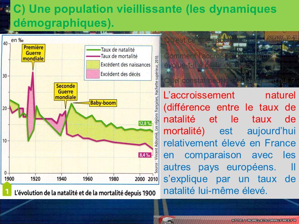 C) Une population vieillissante (les dynamiques démographiques).
