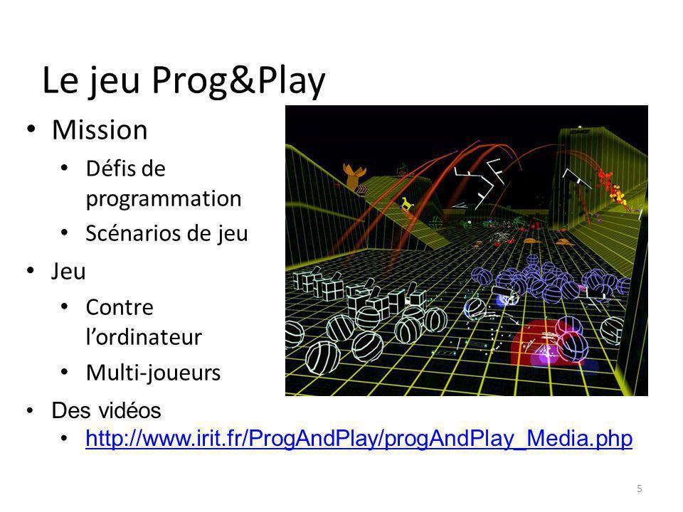 Le jeu Prog&Play Mission Jeu Défis de programmation Scénarios de jeu