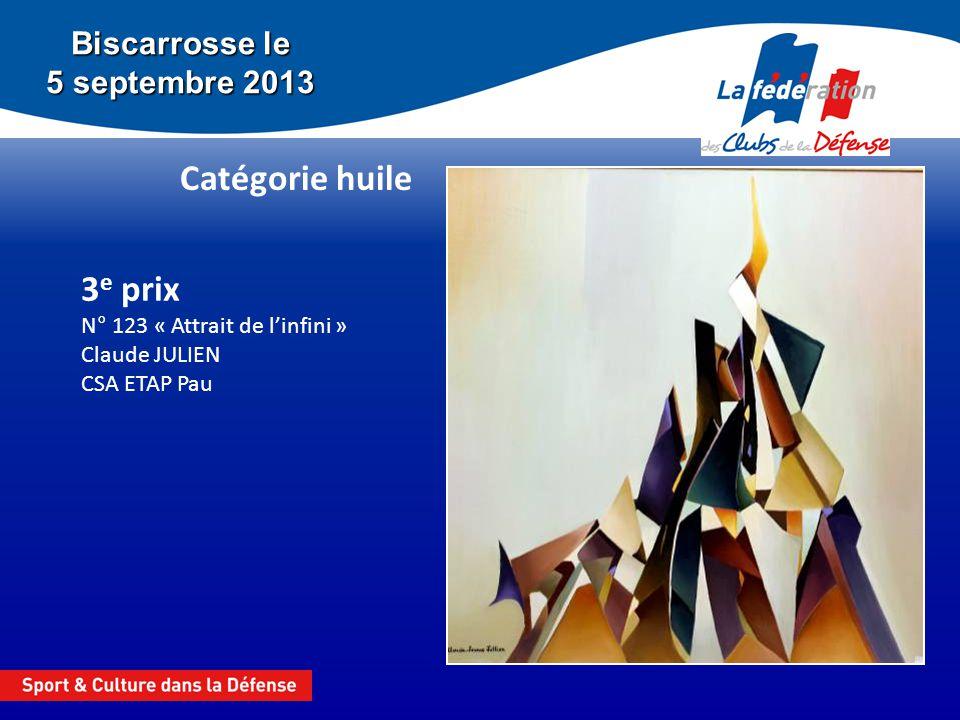 3e prix N° 123 « Attrait de l'infini » Claude JULIEN CSA ETAP Pau