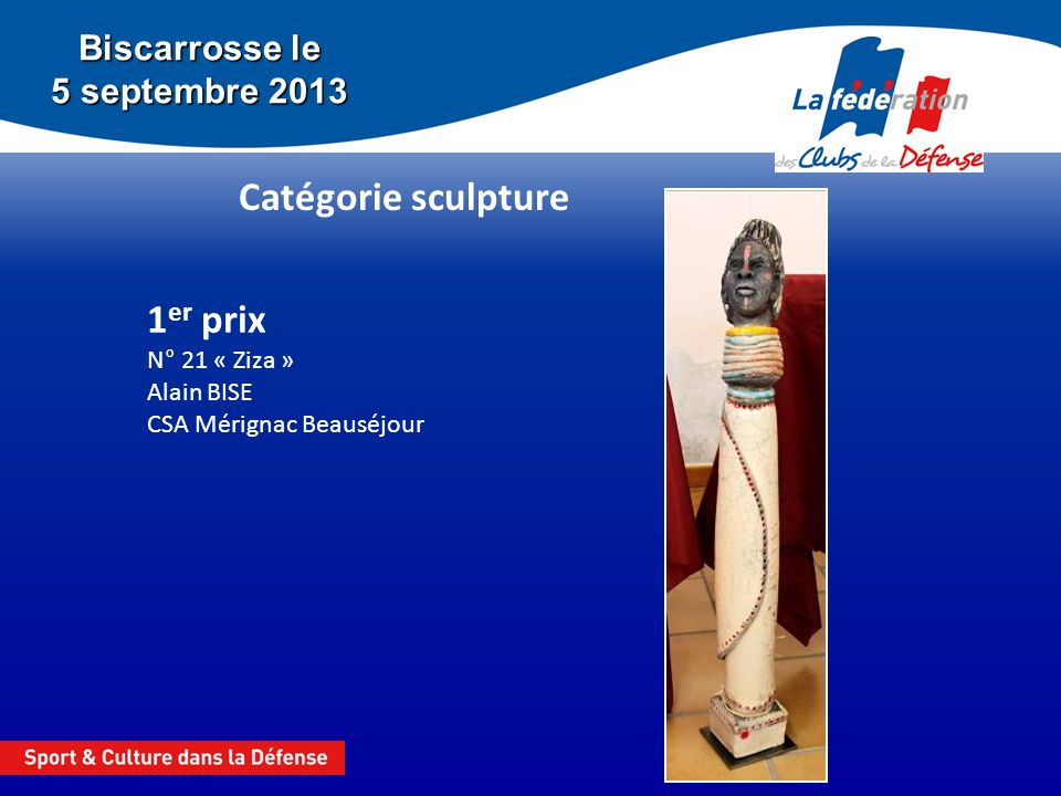 1er prix N° 21 « Ziza » Alain BISE CSA Mérignac Beauséjour