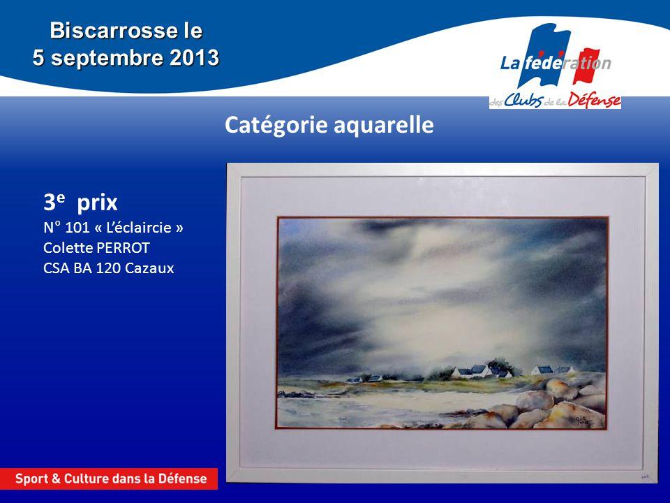 3e prix N° 101 « L'éclaircie » Colette PERROT CSA BA 120 Cazaux