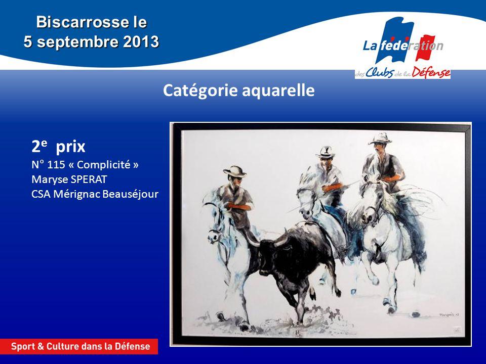 2e prix N° 115 « Complicité » Maryse SPERAT CSA Mérignac Beauséjour
