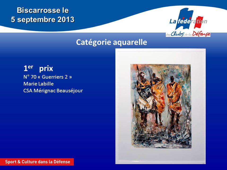 1er prix N° 70 « Guerriers 2 » Marie Labille CSA Mérignac Beauséjour