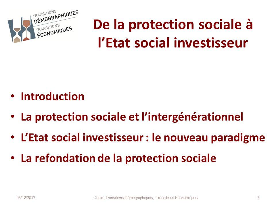 De la protection sociale à l'Etat social investisseur