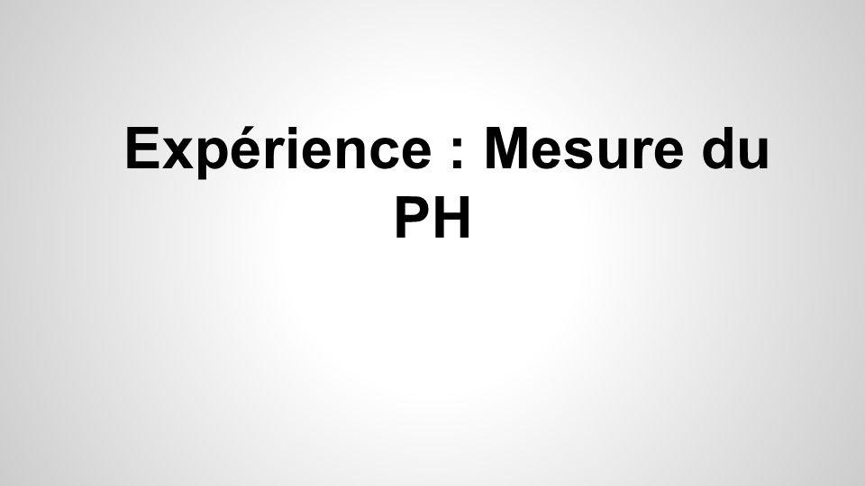 Expérience : Mesure du PH