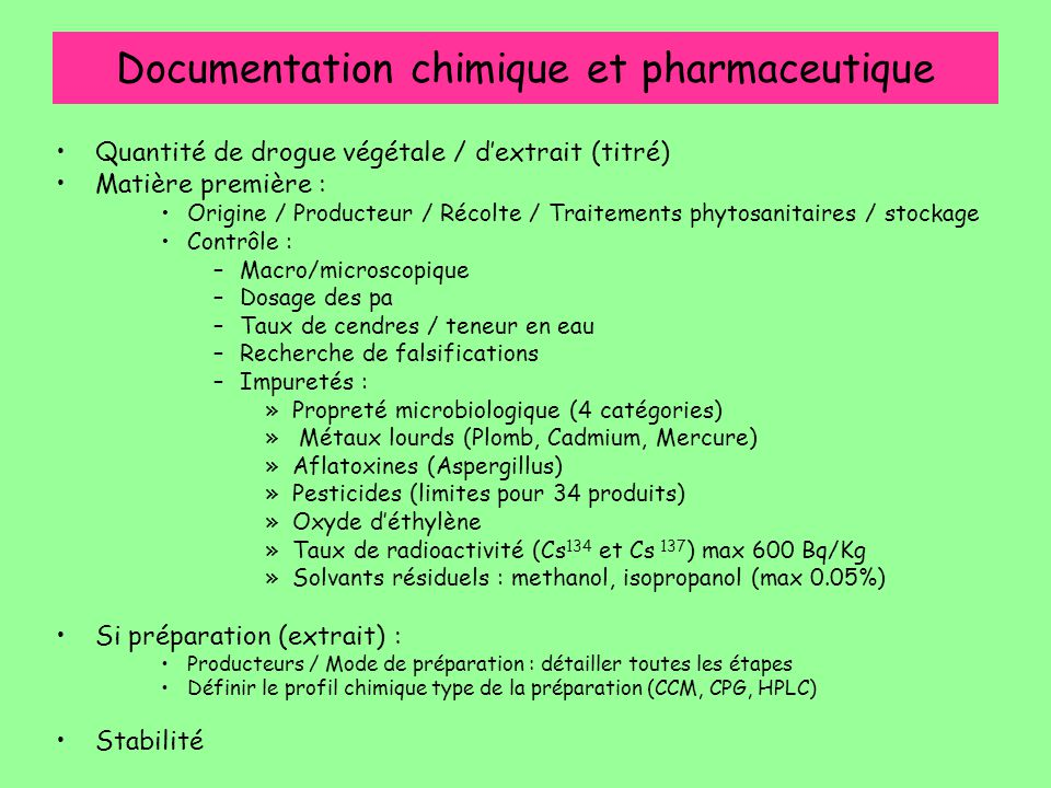 Documentation chimique et pharmaceutique