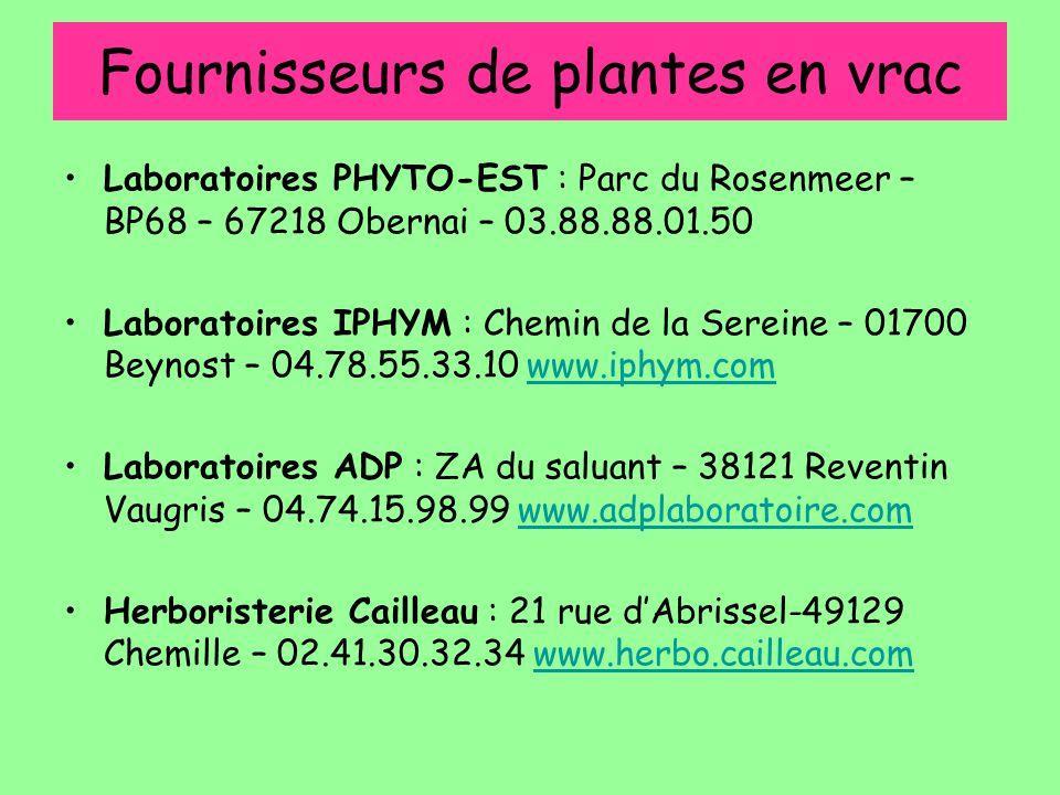 Fournisseurs de plantes en vrac