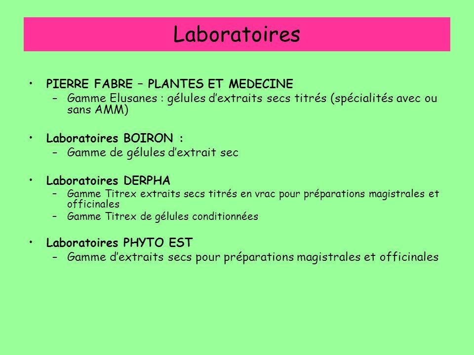 Laboratoires PIERRE FABRE – PLANTES ET MEDECINE