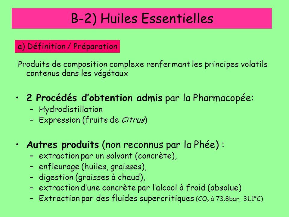 B-2) Huiles Essentielles