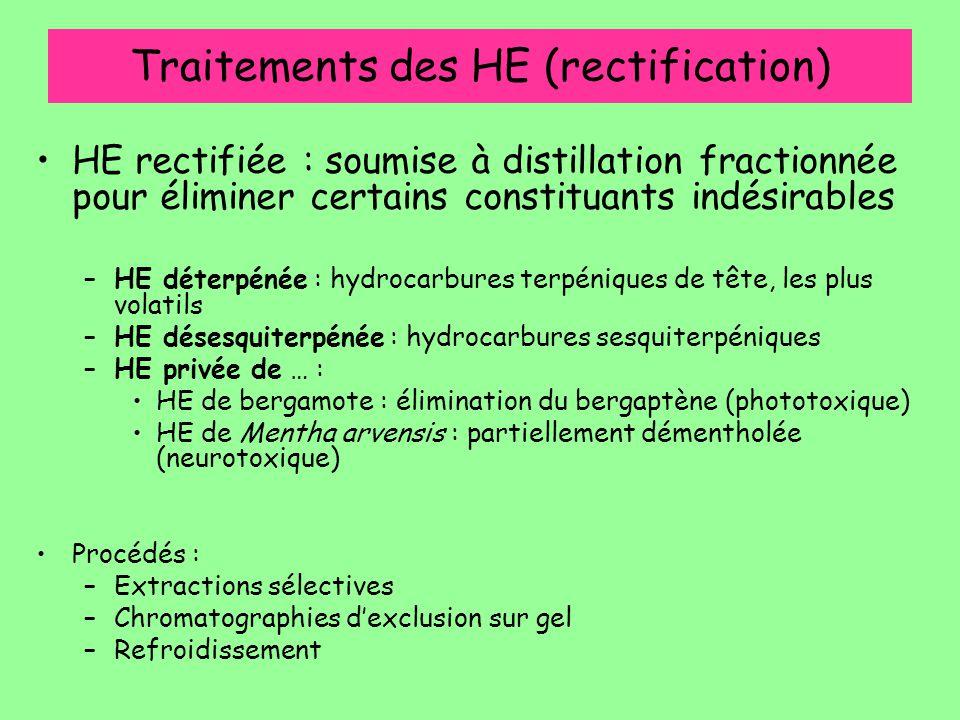 Traitements des HE (rectification)