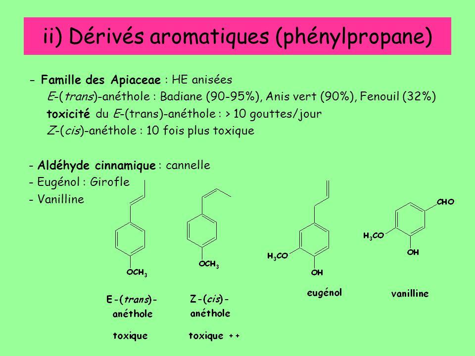 ii) Dérivés aromatiques (phénylpropane)