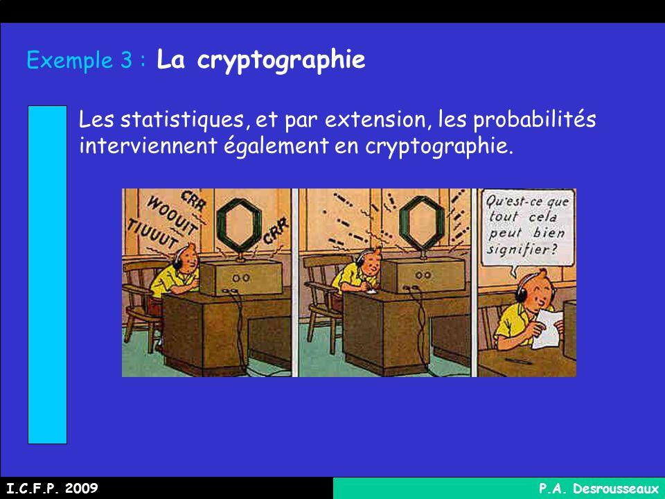 Exemple 3 : La cryptographie