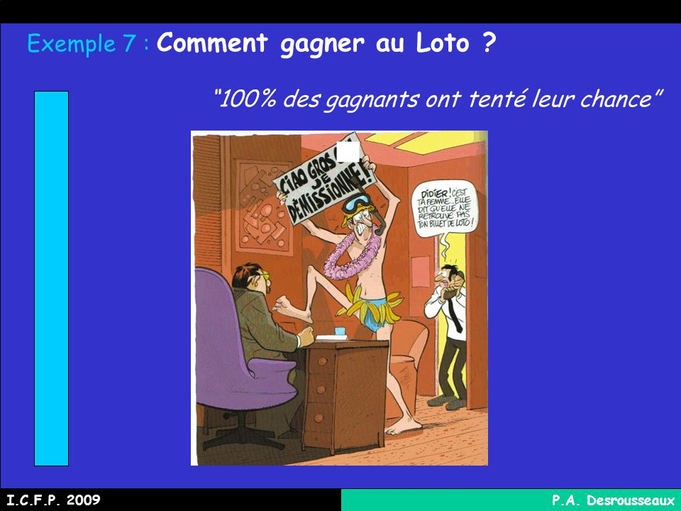 Exemple 7 : Comment gagner au Loto