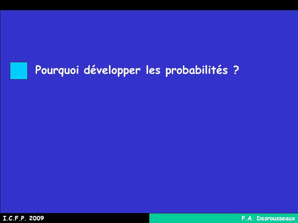 Pourquoi développer les probabilités