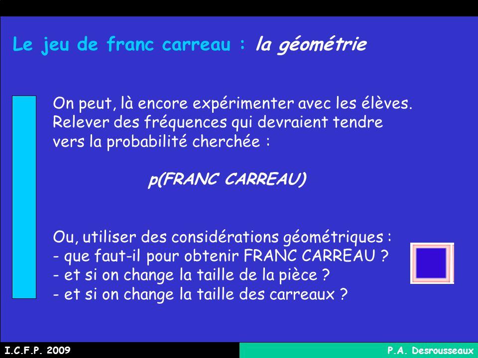 Le jeu de franc carreau : la géométrie