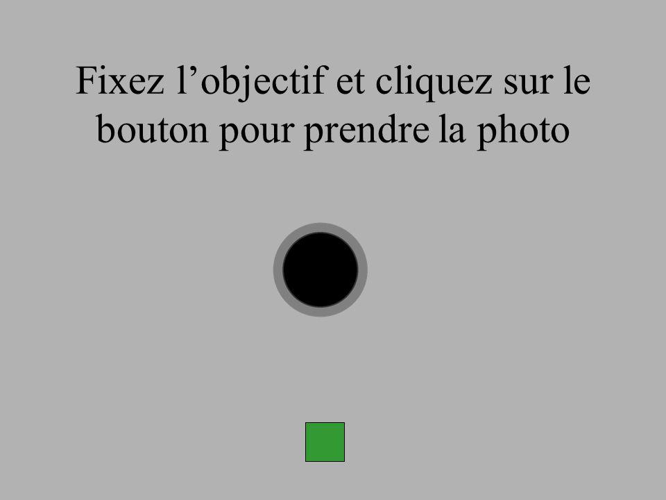 Fixez l'objectif et cliquez sur le bouton pour prendre la photo