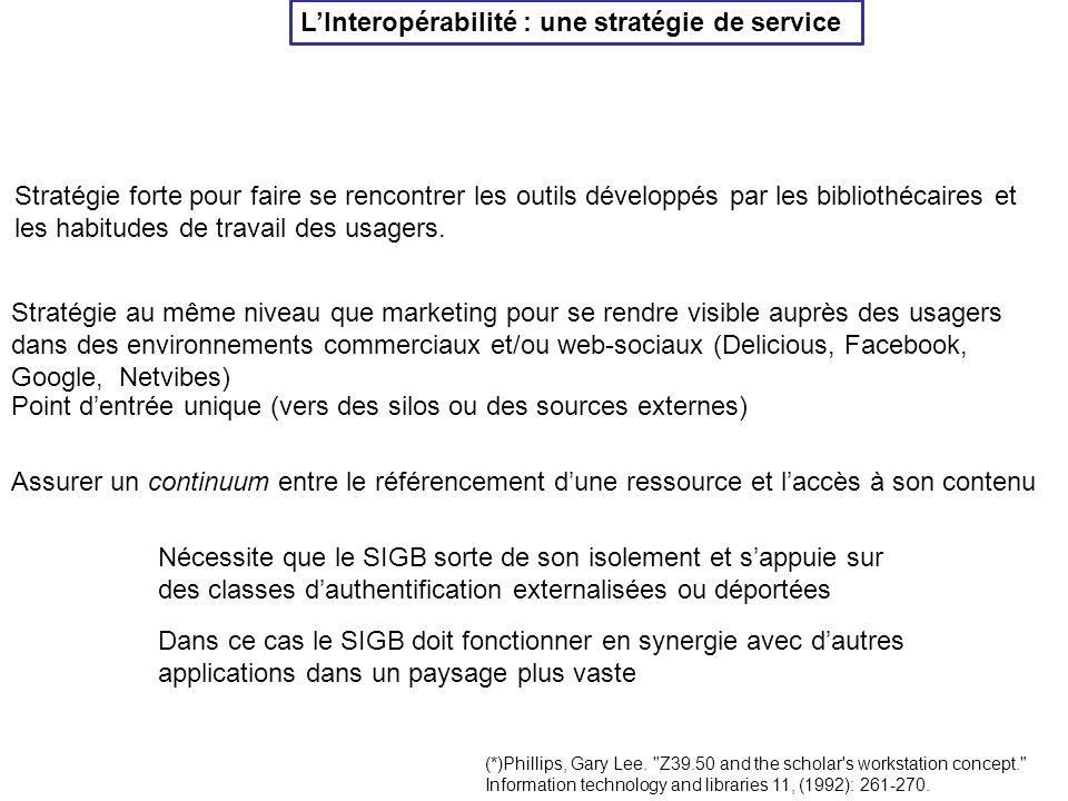 L'Interopérabilité : une stratégie de service