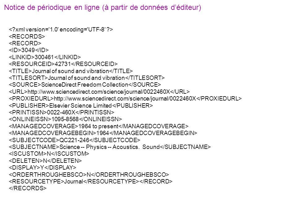 Notice de périodique en ligne (à partir de données d'éditeur)