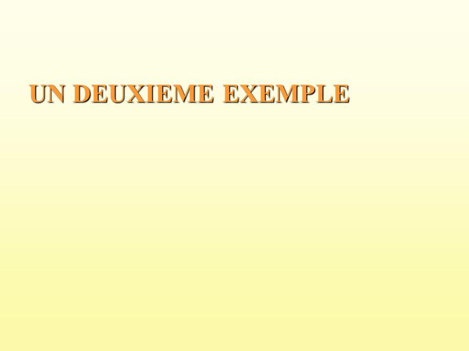 UN DEUXIEME EXEMPLE