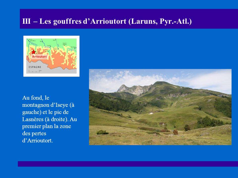 III – Les gouffres d'Arrioutort (Laruns, Pyr.-Atl.)