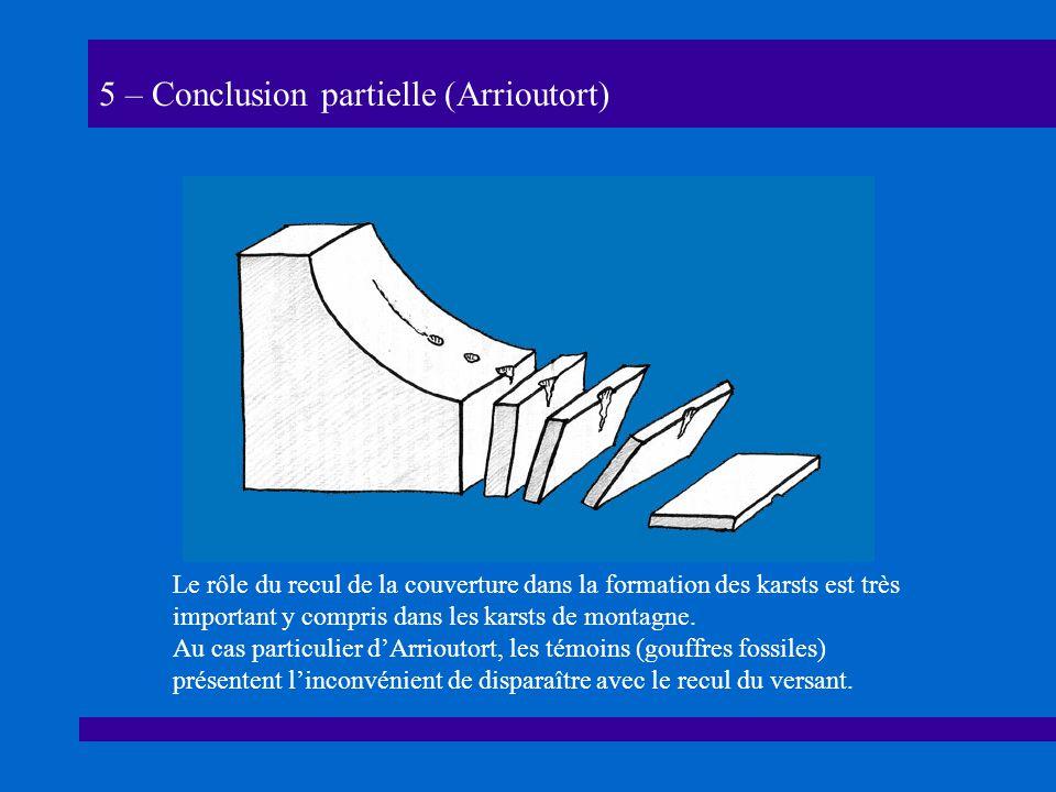 5 – Conclusion partielle (Arrioutort)