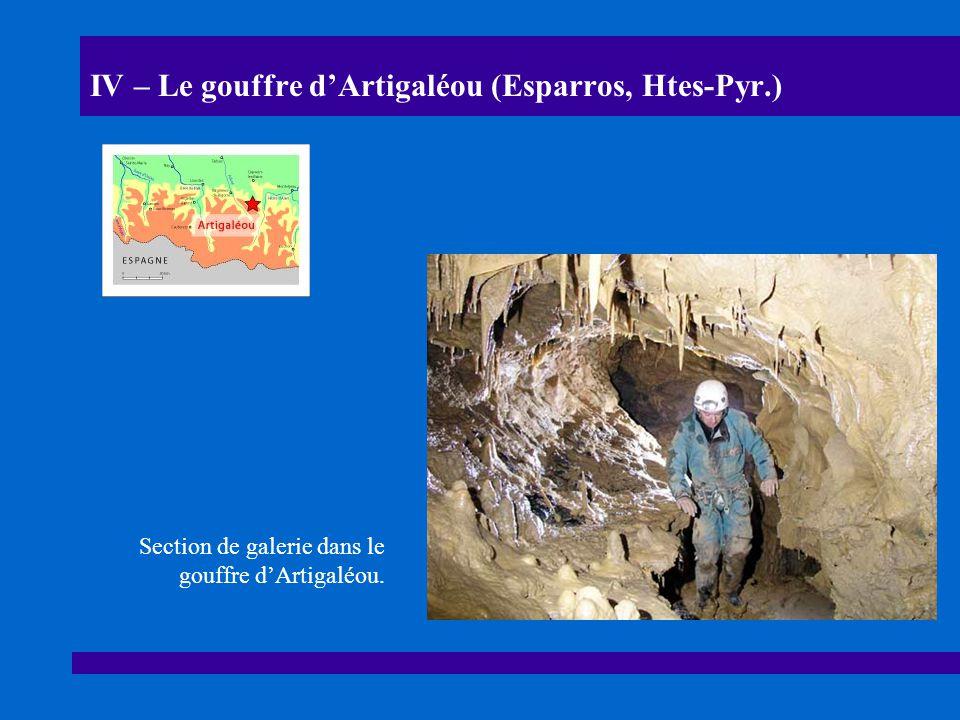 IV – Le gouffre d'Artigaléou (Esparros, Htes-Pyr.)