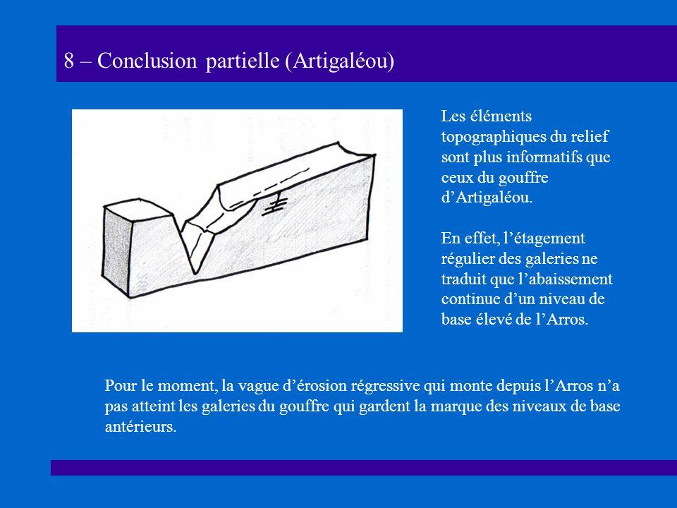 8 – Conclusion partielle (Artigaléou)